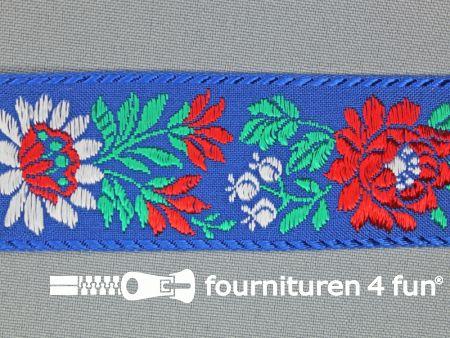 Folklore band 35mm blauw