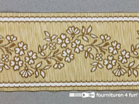 Folklore band 50mm beige - bruin