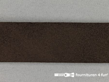 Suede band 30mm donker bruin