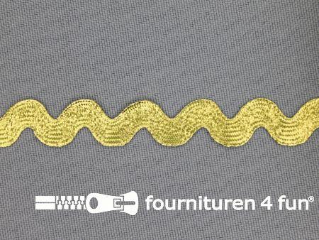 Zigzag band 11mm goud