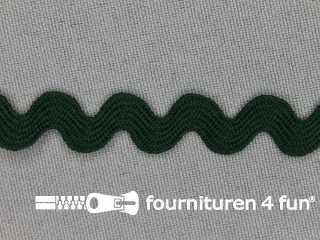 Zigzag band 11mm donker groen