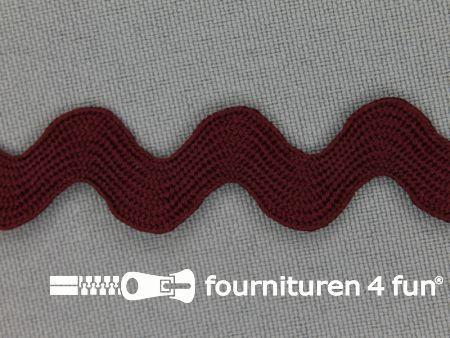 Zigzag band 15mm bordeaux rood