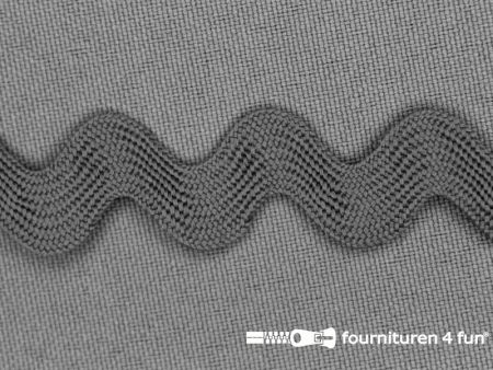 Zigzag band 15mm midden grijs
