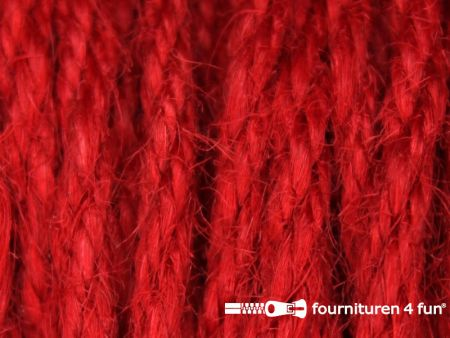 Jute koord 4mm rood