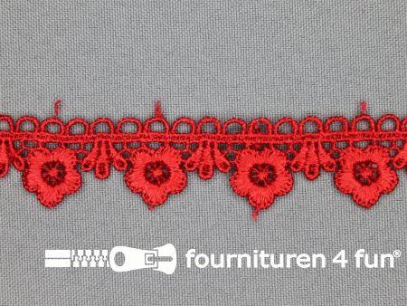 Bloemenkant 20mm rood