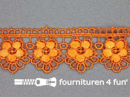 Bloemenkant 30mm oranje
