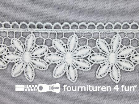 Bloemenkant 32mm licht grijs