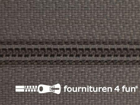 Niet deelbare nylon rits 3mm licht muisgrijs