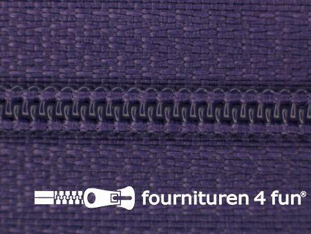 Niet deelbare nylon rits 3mm donker paars