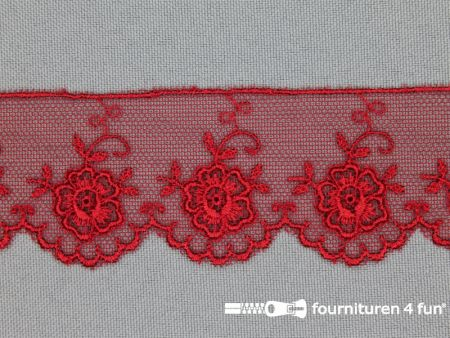 Valenciennes kant 35mm rood