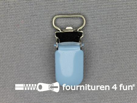 Bretelclips 10mm baby blauw