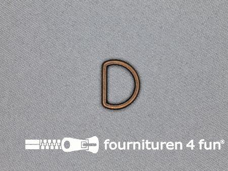 D-ring 15mm rood koper rond
