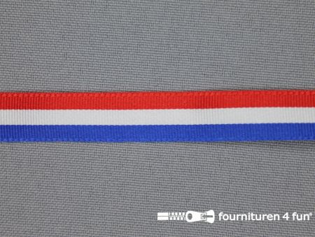 Deco lint 12mm rood - wit - blauw