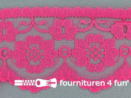 Nylon kant 60mm fuchsia roze