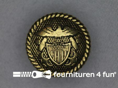 Gouden knoop 25mm wapen