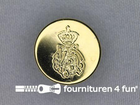 Gouden knoop 20mm kroon
