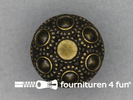 Bronzen knoop 23mm studs