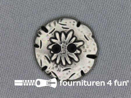 Landhuis knoop 23mm bloem