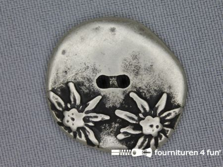 Landhuis knoop 30mm bloemen