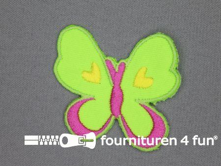 Girls applicatie 54x54mm vlinder