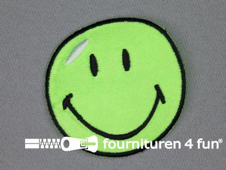 Kids applicatie 55x55mm smiley groen