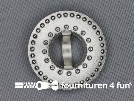 Zilveren knoop 28mm studs