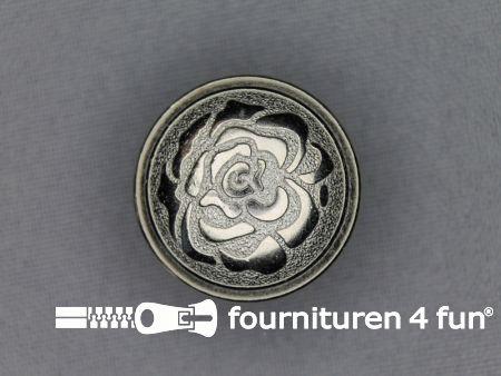 Chroom knoop 25mm roos