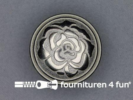 Chroom knoop 30mm roos
