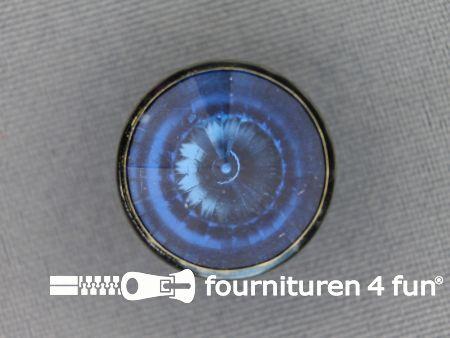 Strass knoop 18mm blauw