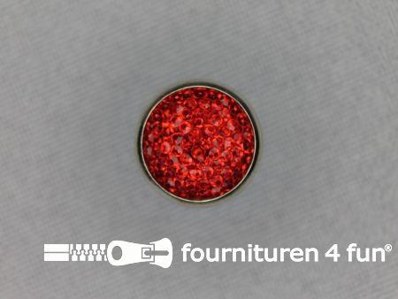 Strass knoop 13mm rood