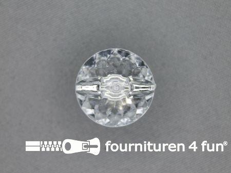 Strass knoop 21mm zilver