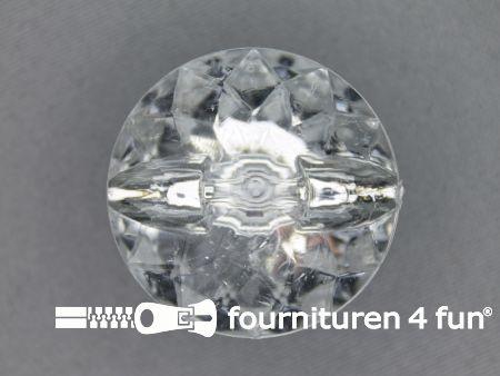 Strass knoop 35mm zilver