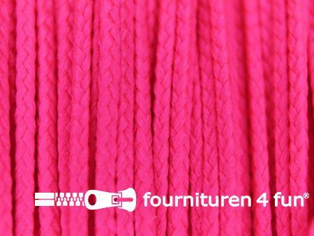 Koord 1mm rol neon roze 50 meter
