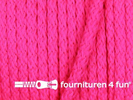 Jassen koord 3mm neon roze