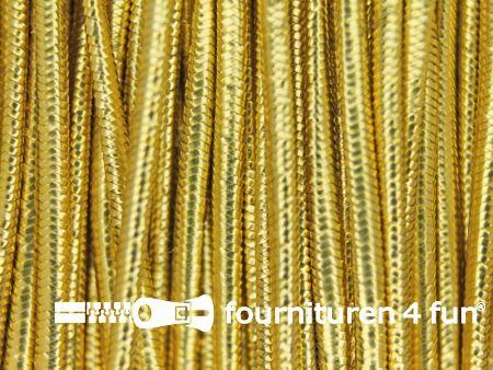 Elastisch koord 1mm rol goud 50 meter