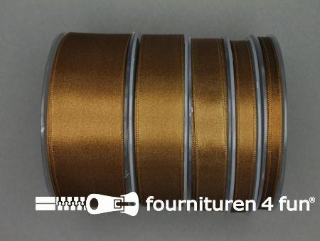 Rol 25 meter satijn lint 38mm brons bruin