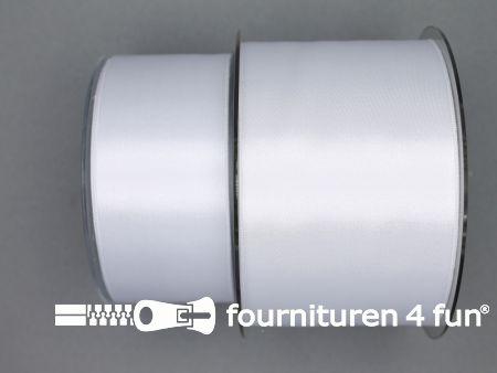 Satijn lint 68mm wit