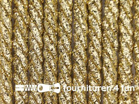 Metallic koord 5mm glans goud