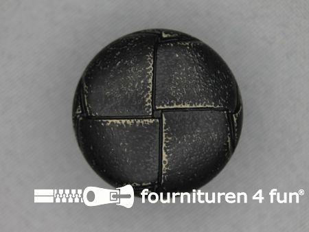 Voetbal knoop 28mm vintage antraciet