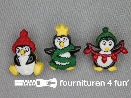 Fun knopen set kerst pinguins