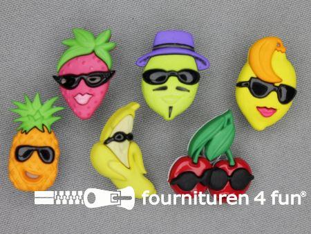 Fun knopen set fruit