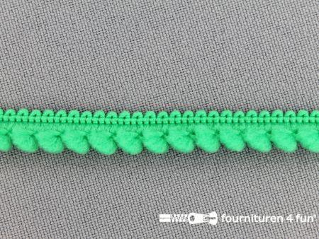 Bolletjesband 10mm gras groen