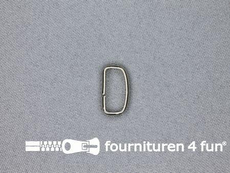 Schuifpassant 15mm zilver 10 stuks
