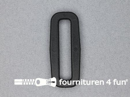 Schuifpassant 40mm zwart kunststof