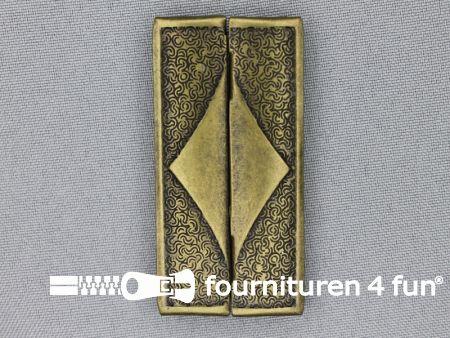 Inhaakgesp 60mm brons