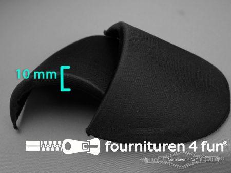Schoudervullingen 10mm recht zwart