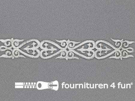 Barok applicatie 25x180mm zilver