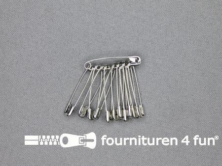Veiligheidsspelden 28mm zilver 12 stuks