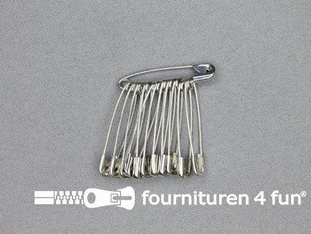 Veiligheidsspelden 38mm zilver 12 stuks