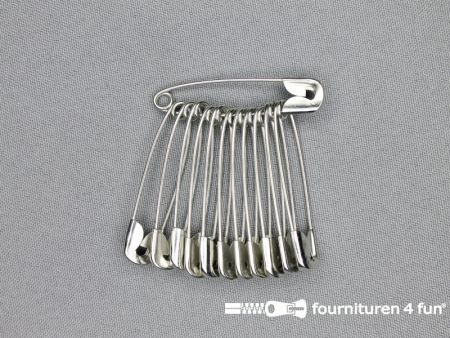 Veiligheidsspelden 45mm zilver 12 stuks